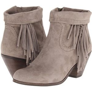 Sam Edelman Louie Ankle Boot in Suede Tan Taupe